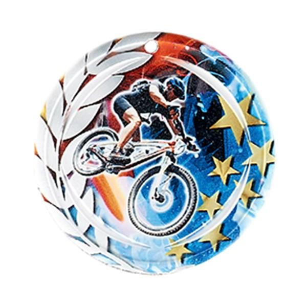 Médaille Céramique VTT 70 mm France Sport