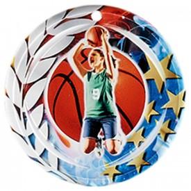 Médaille Céramique Basket-ball féminin 70 mm - France Sport F_NA03