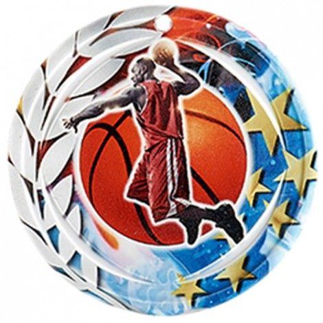Médaille Céramique Basket-ball 70 mm France Sport