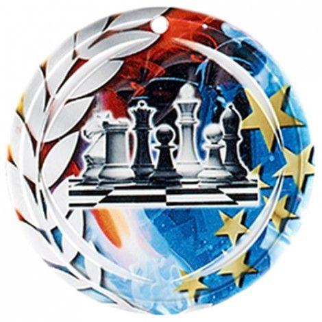 Médaille Céramique Echec 70 mm France Sport