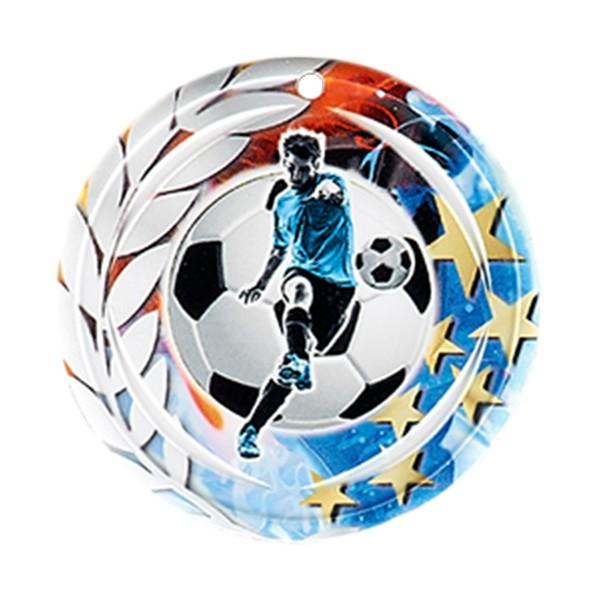Médaille Céramique Football 70 mm France Sport