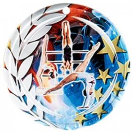 Médaille Céramique Gymnastique féminine 70 mm - France Sport F_NA15