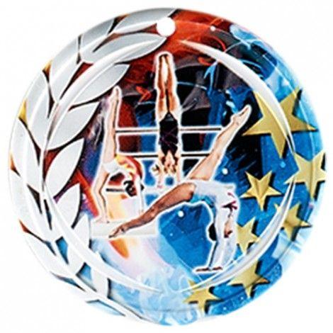 Médaille Céramique Gymnastique féminine 70 mm France Sport