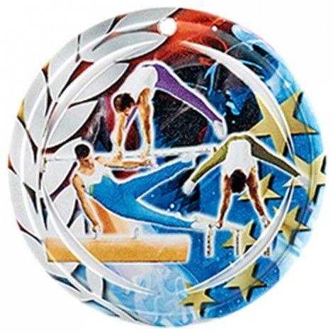 Médaille Céramique Gymnastique 70 mm France Sport