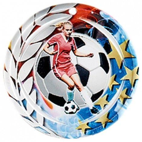 Médaille Céramique Football féminin 70 mm France Sport