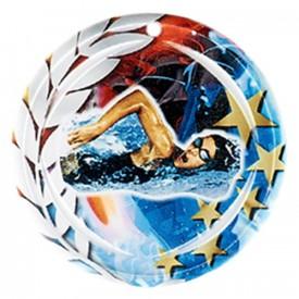 Médaille Céramique Natation féminine 70 mm - France Sport F_NA21