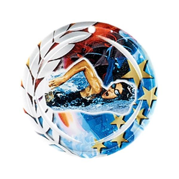 Médaille Céramique Natation féminine 70 mm France Sport