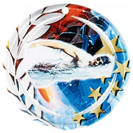 Médaille Céramique Natation 70 mm - France Sport F_NA22