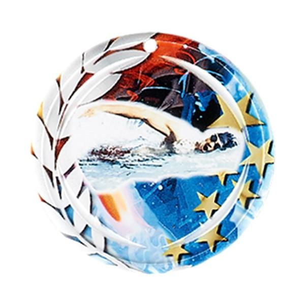Médaille Céramique Natation 70 mm France Sport