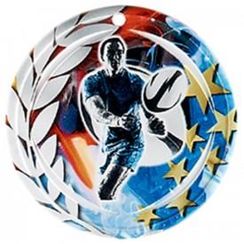 Médaille Céramique Rugby 70 mm - France Sport F_NA25