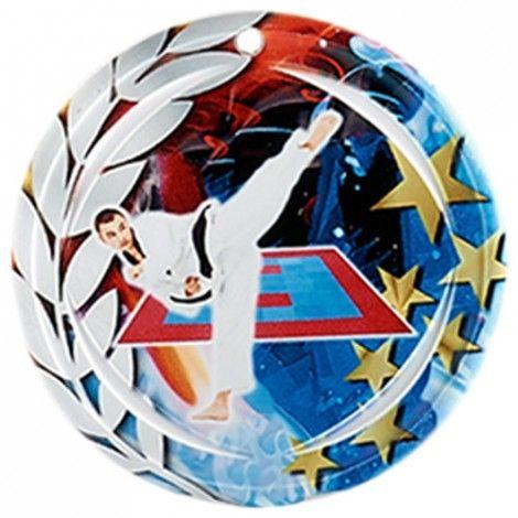 Médaille Céramique Karaté 70 mm France Sport