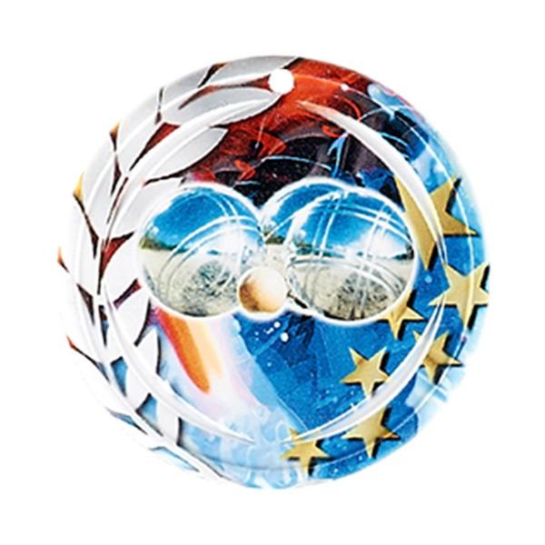 Médaille Céramique Pétanque 70 mm France Sport