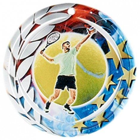 Médaille Céramique Tennis 70 mm France Sport