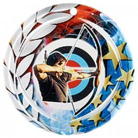 Médaille Céramique Tir à l'arc 70 mm - France Sport F_NA28