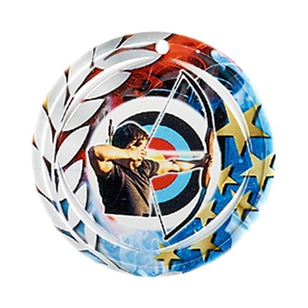 Médaille Céramique Tir à l'arc 70 mm France Sport