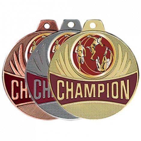 Médaille Champion Athlétisme 50 mm France Sport