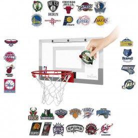 Panneau de basket Slam Jam board avec Sticker équipes NBA
