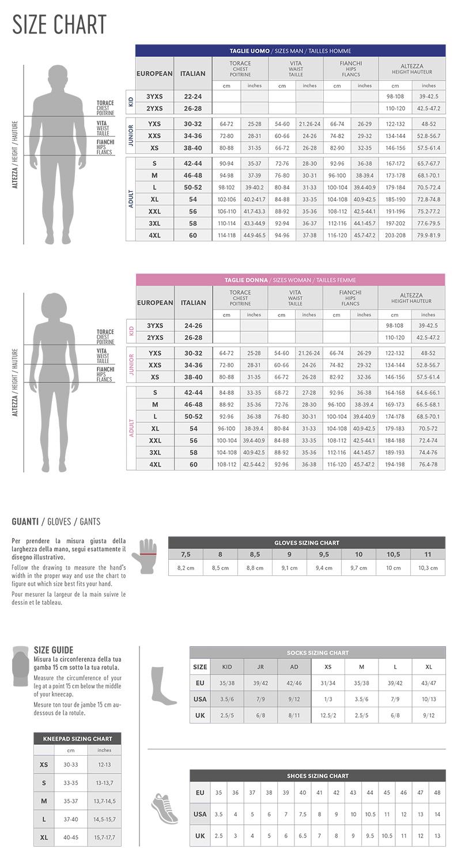 Guide des tailles Errea
