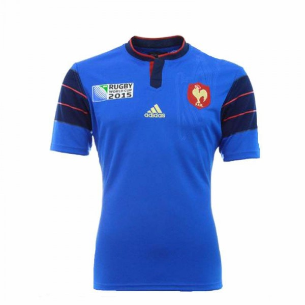 maillot adidas equipe de france rugby domicile rwc 2015. Black Bedroom Furniture Sets. Home Design Ideas